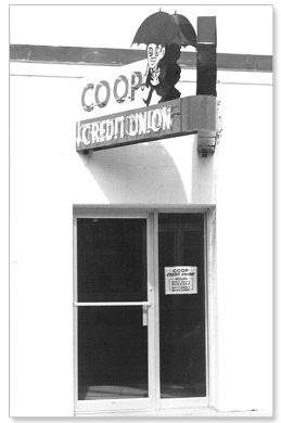 Coop Credit Union sign circa 1960s