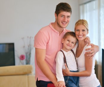 Happy family with a VCCU home equity loan